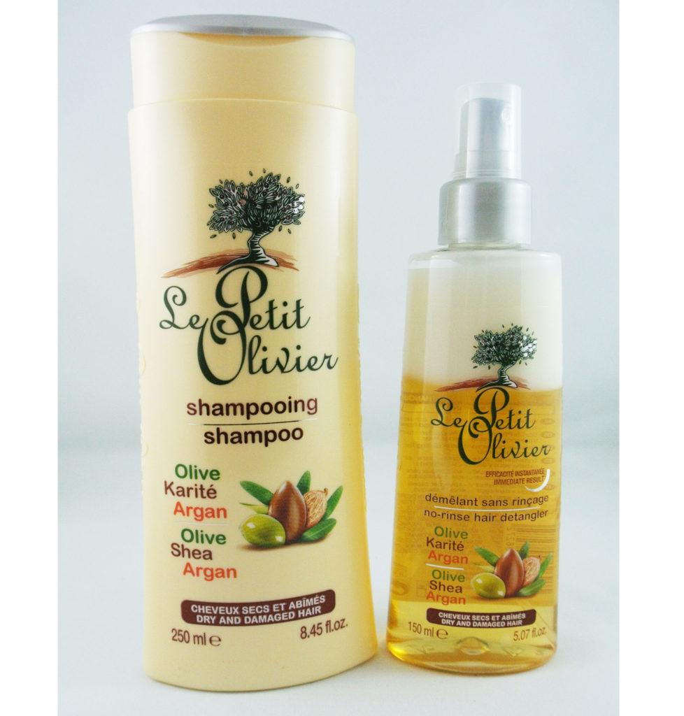 le petit olivier shampooing et spray d m lant pour cheveux secs la douceur des soins corporels. Black Bedroom Furniture Sets. Home Design Ideas