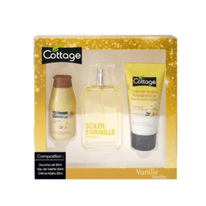 Cottage gift box natural spray repairing hand cream softening shower and milk vanilla