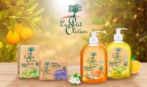 le petit olivier douche savon