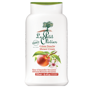 le petit olivier shower cream almond blossom and nectarine