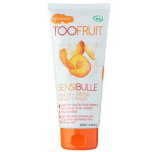 Toofruit gelée de douche sensibulle pêche abricot 200ml.|