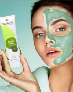 argileux argile verte visage