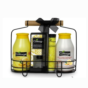 Cottage coffret citron gourmand douche lait corporel