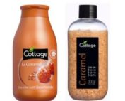DUO cottage douche et sel bain caramel