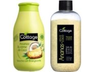 DUO cottage sel de bain et douche ananas