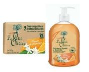 DUO Le Petit Olivier hand soap and bar soap 2x100gr ORANGE BLOSSOM