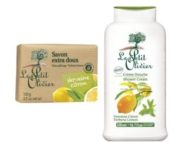 DUO Le Petit Olivier shower cream 500ml. and bar soap 2x100gr VERBENA LEMON