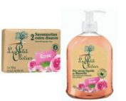 DUO Le Petit Olivier hand soap 300ml. and bar soap 2x100gr ROSE
