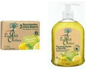 DUO Le Petit Olivier hand soap 300ml. and bar soap 2x100gr VERBENA LEMON