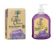DUO Le Petit Olivier hand soap and bar soap 250gr LAVENDER