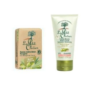 DUO Le Petit Olivier Hand cream 75ml. and bar soap 250gr OLIVE