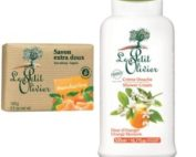 DUO Le Petit Olivier shower cream 500ml. ORANGE BLOSSOM and bar soap 100gr TANGERINE