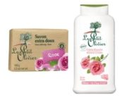 DUO Le Petit Olivier shower cream 500ml. and bar soap 100gr ROSE