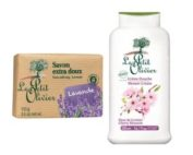 DUO Le Petit Olivier shower cream 500ml. CHERRY BLOSSOM and bar soap 100gr LAVENDER