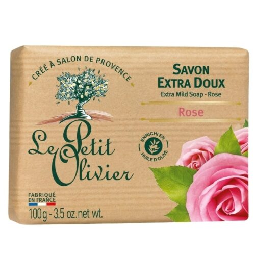 Le petit olivier savon 100gr rose-min