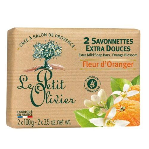Le petit olivier savon 2x100gr fleur d'oranger-min