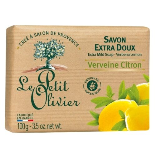 le petit olivier savon 100gr verveine citron-min