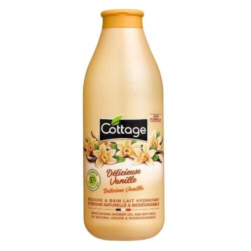 Cottage Douche et bain lait hydratant Délicieuse vanille 750ml.-min