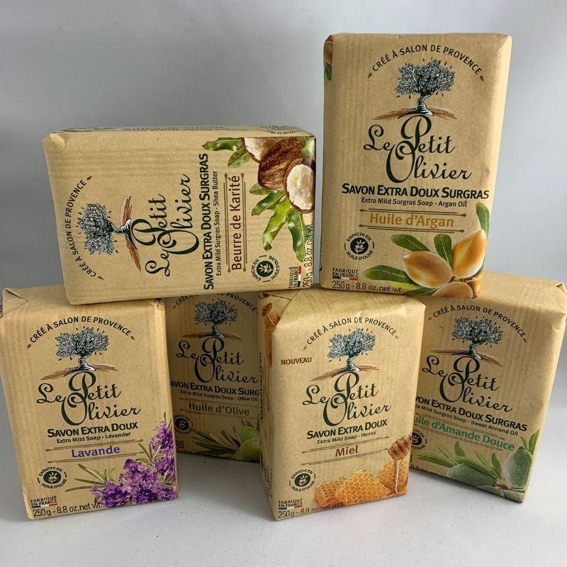 savon solide karité miel argan olive lavande amande douce