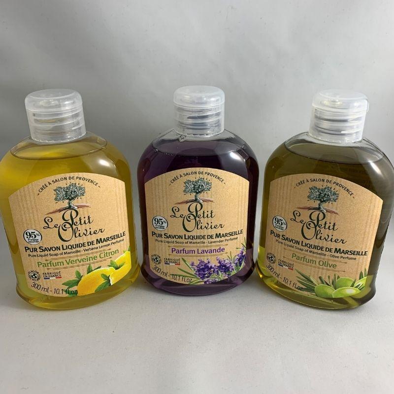 savon à mains verveine citron olive lavande